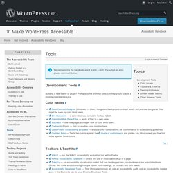 Tools – Make WordPress Accessible