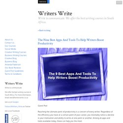 The Nine Best Apps And Tools To Help Writers Boost Productivity