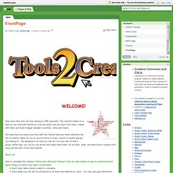 tools2create [licensed for non-commercial use only] / FrontPage