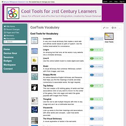 CoolToolsfor21stCenturyLearners - CoolTools Vocabulary