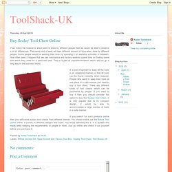 ToolShack-UK: Buy Sealey Tool Chest Online
