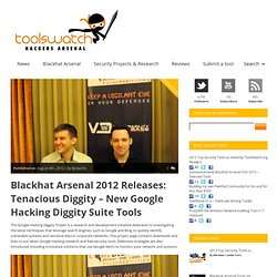 Blackhat Arsenal 2012 Releases: Tenacious Diggity – New Google Hacking Diggity Suite Tools