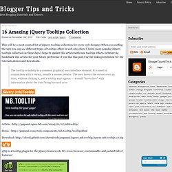 16 Amazing jQuery Tooltips Collection