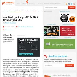 40 Tooltips Scripts With AJAX, JavaScript & CSS - Smashing Magazine