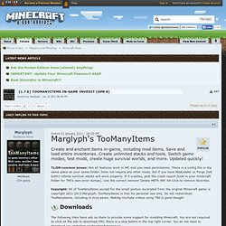 1, 12w03a] TooManyItems in-game invedit *Jan 19*