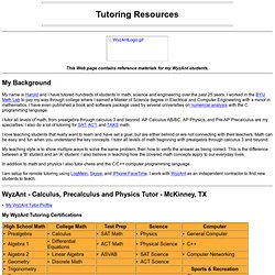 Toomey.org Tutoring Resources