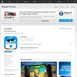 Toontastic for iPad on the iTunes App Store