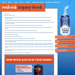 Tooth decay & sugary drinks