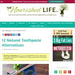 12 Natural Toothpaste Alternatives