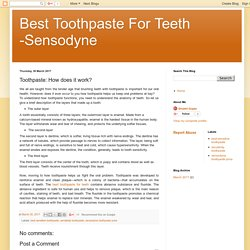Best Toothpaste For Teeth -Sensodyne: Toothpaste: How does it work?
