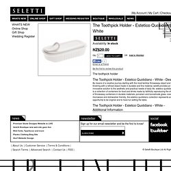 Seletti - The Toothpick Holder - Estetico Quotidiano - White | Seletti New Zealand, Australia, Hong Kong