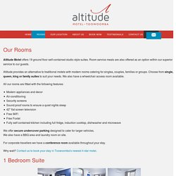 Our Rooms - Places to Stay in Toowoomba - Altitude Motel Apartments