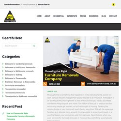 How to Choose the Right Toowoomba Furniture Removals Company