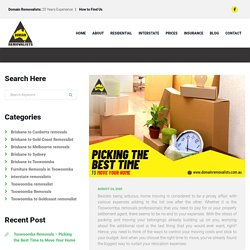 Toowoomba Removals – Picking the Best Time to Move Your Home