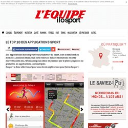 Top 10 des applications sport