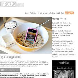 Top 10 des applis FOOD