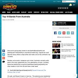 Top 10 Bands From Australia