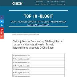 Top 10 -blogit