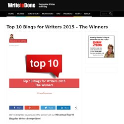 Top 10 Blogs for Writers 2015