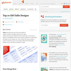 Top 10 CSS Table Designs - Smashing Coding