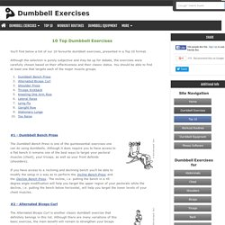 Top 10 Dumbbell Exercises