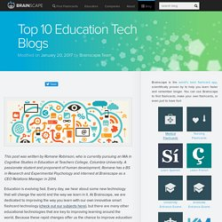 Top 10 Education Tech Blogs