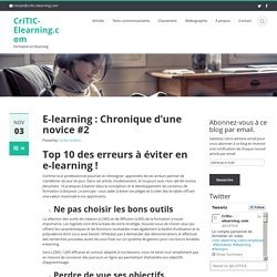 TOP 10 des erreurs e-learning