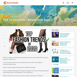 TOP 10 FASHION TRENDS FOR 2020 !