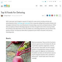 Top 10 Foods For Detoxing