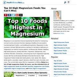 Top 10 Foods Highest in Magnesium