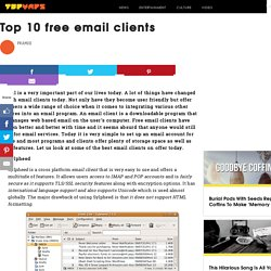 Top 10 free email clients