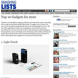 Top 10 Gadgets for 2010