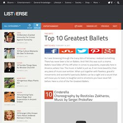 Top 10 Greatest Ballets