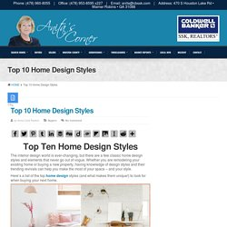 Top 10 Home Design Styles