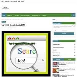 Top 10 Job Search sites in 2019