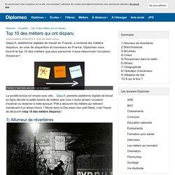 Top 10 : les métiers disparus