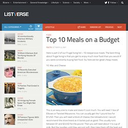 Top 10 Meals on a Budget