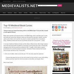 Top 10 Medieval Book Curses