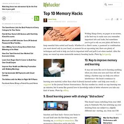 Top 10 Memory Hacks - Lifehacker
