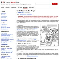 Top Ten Mistakes in Web Design (Jakob Nielsen's Alertbox)