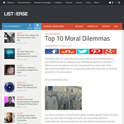 Top 10 Moral Dilemmas