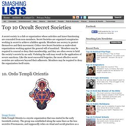 Top 10 Occult Secret Societies