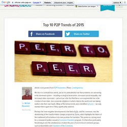 Top 10 P2P Trends of 2015