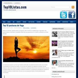 Top 10 posturas de Yoga - Top 10 Listas