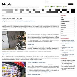 Top 10 QR Codes Of 2011