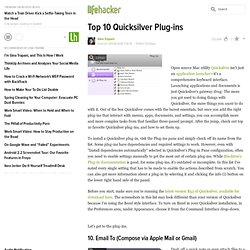Top 10 Quicksilver plug-ins