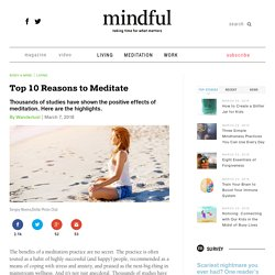Top 10 Reasons to Meditate