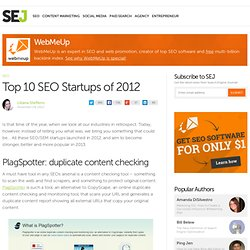 Top 10 SEO Startups of 2012