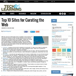 - Top 10 Sites for Curating the Web