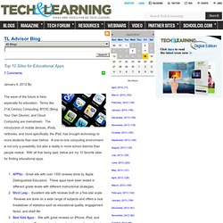 - Top 10 Sites for Educational Apps
